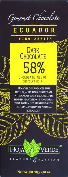 Hoja Verde 58% Dark Chocolate