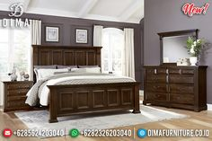 Harga Tempat Tidur Minimalis Jati Natural Klasik Best Seller Product BT-0797