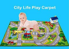 Bed Rug Amazon HUAHOO Kids u Rug With Roads Kids Rug City Street Map Children