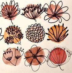 Doodle Art 766174955329388845 - Recherches de fleurs (IV) Source by lettresandco Doodle Art, Painting Inspiration, Art Inspo, Art Journal Inspiration, F4 Boys Over Flowers, Art Watercolor, Watercolor Flowers, Arte Sketchbook, Sketchbook Pages