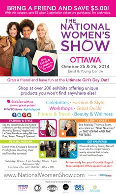 Bring a Friend & Save $5 at the National Women's Show #Ottawa Oct 25-26 #NWSOttawa