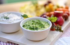 Upgrade easy homemade ranch dip with creamy avocados with this recipe from Martha Stewart.