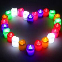 US $10.24 24pcs LED Candle Flameless Candles Amber Decorative Led Electronic Candle Light/ Led Light/Romantic Express Love Home Decor Gift. Aliexpress product