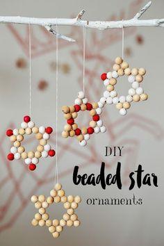 DIY Beaded Star Ornaments   Christmas   Motte's Blog