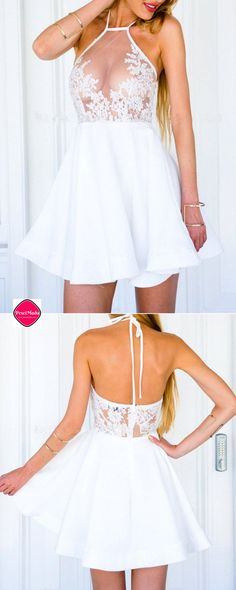 Sexy White A-line Lace Party Dress. Get Additional 10% Off your first order at www.pescimoda.com Shipping all over United States. #WomansFallFashion #TeensFallFashion #TeensFallOutfits #TeensFallFashionOutfits #FallOutfits #FallFashion2016 #Stylish #Cute #BohoChic #ChicFashion #FallFashion #BohoFashion #FallCollection #WomansFashion #WomansFallOutfits #WomansFallFashion2016 #BohoFashion #MiniDress #LaceDress