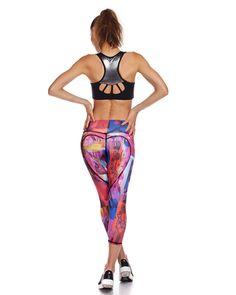 Heart Butt Yoga Pants SALE, Workout Leggings, Printed Leggings, Heart Butt Pants, Heart Tights, Fitness Legging, Yoga Capris, Nina B Roze