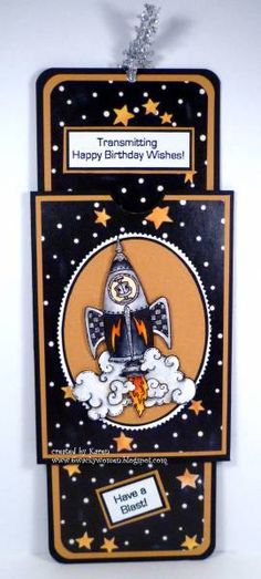 Robot in Rocket by *1 wacky woman* - Cards and Paper Crafts at Splitcoaststampers