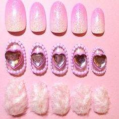 Amazing Valentine's Day nail art by 💅💕 Pink Cheetah Nails, Polka Dot Nails, Short Nails Art, Easy Nail Art, Nail Inspo, Nail Tips, Nail Polish, Gel Nail