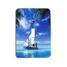 Scenic Sailing Sail boat tropical beach Metal Light Switch Plate  Single Toggle Great Gift Idea * Details can be found by clicking on the image.