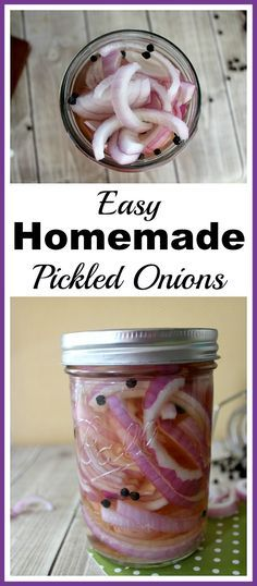 Easy Homemade Pickled Onions- Pickling food at home is a lot easier than you might think. Here's how to make delicious and easy homemade pickled onions! | food, how to pickle onions, pickle your own food, condiments, make your own pickled onions, easy recipe, Mason jar