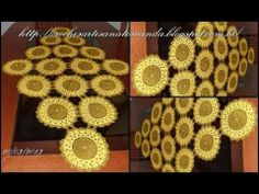 Vídeo aula do motivo para caminho de mesa em crochê com pérolas (Parte 1...