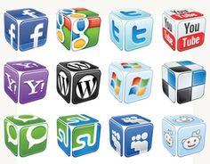 Iconos sociales con forma de dado #Icons