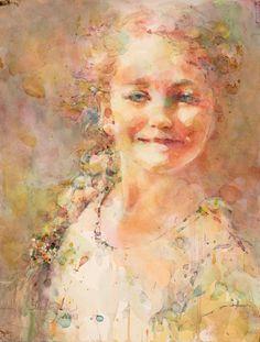 "Contemporary Painting - ""Afton"" (Original Art from Fealing Lin Watercolors)"