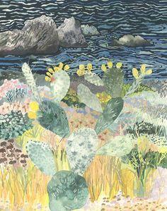 ミシェル・モーリンによる作品。画家、デザイナーとしてだけではなく、ガーデニングの分野でも活躍しています。大学で絵画や美術史を勉強する前は園芸分野で働いていました。