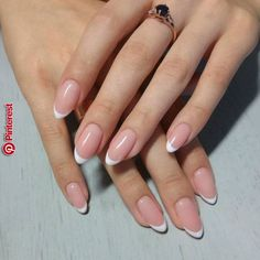 Stunning almond nails in traditional french manicure style! Stunning almond nails in traditional french manicure style! Stunning almond nails in traditional french manicure style! French Nails, Almond Nails French, French Manicure Acrylic Nails, Short Almond Nails, Almond Acrylic Nails, Almond Shape Nails, Oval Nails, Nail Manicure, Manicure Ideas