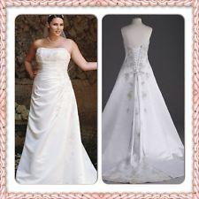 A-line side drape strapless gown sz 18