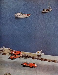 Cars wrecked by Peter Collins and Mike Hawthorn - Scuderia Ferrari - Monaco GP 1957