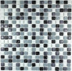 7,17 €   http://www.sygma-group.com/en/glass-mosaic/234-mosaic-tile-kitchen-and-bathroom-mv-opu-noi-3760227382248.html   Length: 12,01 in, Width: 30,5 cm, Depth: 6 mm, material: Verre, tile size: 1,5 x 1,5 cm, Quantity: 1 plaque, surface: 0,09 m2   For the realisation of your kitchen tiles, walk-in shower, steam room, pool, spa, floor and bathroom walls, we offers a wide range of glass mosaic.     Delivery by Colissimo International: Europe 4-5 days Other countries upon request
