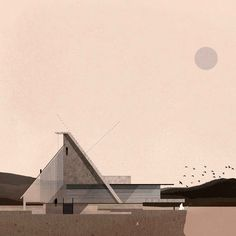 Architectural Drawing Ideas Zean Macfarlane combines his own unique style of architectural illustration with digital media to provide a mix of sketches, graphics and tutorials. Architecture Collage, Architecture Visualization, Architecture Graphics, Architecture Drawings, Architecture Design, Gothic Architecture, Home Modern, Roof Detail, Drawing For Beginners