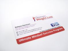 Ultimate Weight Loss Plastic Business Cards