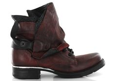Airstep - AS.98 717250 Rouge, Bottines / Boots | Carré Pointu