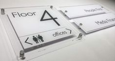 Wayfinders Wall mounted Interior or External Building signage