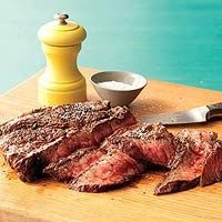"""""""The only time to eat diet food is while you're waiting for the steak to cook."""" Julia Child / Super-Tender Steak"""