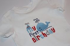 This nautical first birthday shirt is perfect for a smash cake session!