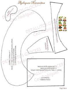 PIE DE ARBOL NAVIDEÑO APLIQUES NIEVES Ondine, Christmas Diy, Ideas Para, Snowman, Patterns, Large Canvas, Xmas, Holiday Ornaments, Appliques
