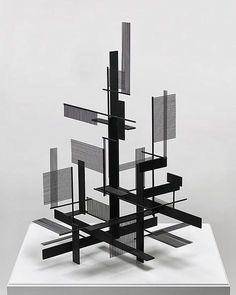 Very Constructivist : Sidney Gordin Concept Models Architecture, Art And Architecture, Maquette Architecture, Interaktives Design, Instalation Art, Sculpture Metal, 3d Modelle, Arch Model, Modelos 3d