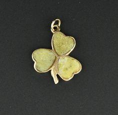 Vintage Gold Connemara Marble Charm Pendant  #Gold #Vintage #intage #Pendant #Charm #Paste #Bracelet #namel #Walter #9K