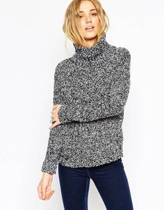 ASOS | ASOS Chunky Sweater With High Neck In Boucle at ASOS