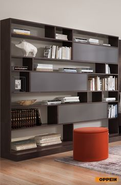 This Contemporary Design Dark Wood TV Cabinet Is Made Of Melamine Carcase  And Gray Acrylic Door