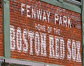 Boston Red Sox Fenway Park Photograph Painted Brick Iconic Sign - 5x7 matted to 8x10 ready to frame