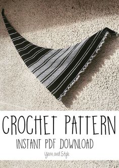 Easy Crochet Pattern / Shawl - Wrap - Scarf / Instant PDF download / avalible on Ravelry / from Yarn and Style / black - grey