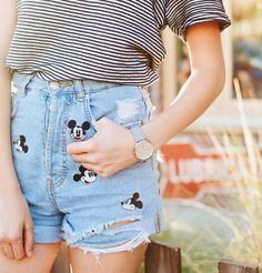 The famous Mickey Mouse Mom Shorts! Wish I'd scooped these up while I could!  #Regram via @evetaylorr  Disney Style I Disney Outfit I Disney OOTD I Disney Park Outfit I Wear to Disney