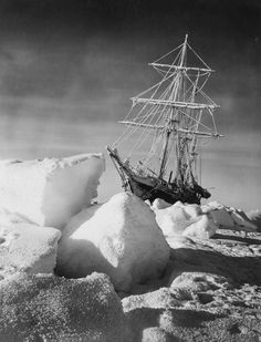 The sun rises on Endurance after the darkness of winter. Frank Hurley/Scott Polar Research Institute, University of Cambridge, Getty Images