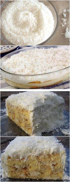 ESSE PAVE É UMA RECEITA DELICIOSA,APRENDI COM UM CHEF DE COZINHA❤️ VEJA AQUI>>>No liquidificador bata o leite condensado, o leite, a manteiga, a maisena, metade do coco ralado e 200 ml de leite de coco. Leve esta mistura ao fogo formando um creme até engrossar #receita#bolo#torta#doce#sobremesa#aniversario#pudim#mousse#pave#Cheesecake#chocolate#confeitaria