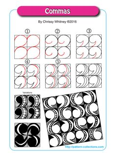 Commas by Chrissy Whitney tangle pattern