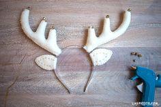 Для новогоднего утренника. Детская шапочка с рогами оленя (3) (700x466, 346Kb)