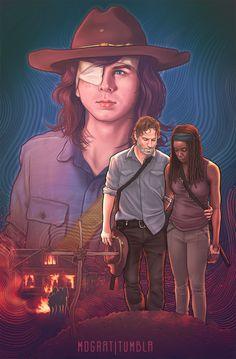 The Walking Dead Poster, Carl The Walking Dead, Walking Dead Fan Art, Walking Dead Show, Walking Dead Series, Michonne Walking Dead, Walking Dead Quotes, Walking Dead Zombies, Carl Grimes