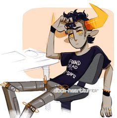 "madtheagenderperson: "" madtheagenderperson: "" clock-heart: "" having a day "" This is the best Tavros drawing I've ever seen????? And that's saying something????? "" Can I just elaborate here??? Usually,..."