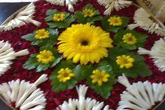 for festival Flower Rangoli, Flower Garlands, Flower Mandala, Flower Art, Diwali Decorations, Festival Decorations, Flower Decorations, Rangoli Patterns, Rangoli Ideas