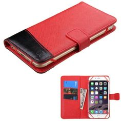 Insten Universal Leather Phone Case Cover For Apple iPhone 6 Plus/ Microsoft Lumia 640 XL/ Samsung Galaxy Note Edge