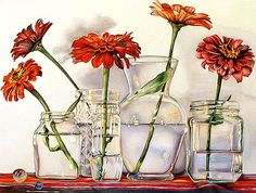 Kathrine Lemke Waste - five zinnias