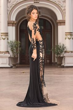 Gorgeous Long Black Evening Gown Prom Dress by YourGorgeousstyle