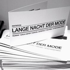 Invitation Cards LANGE NACHT DER MODE