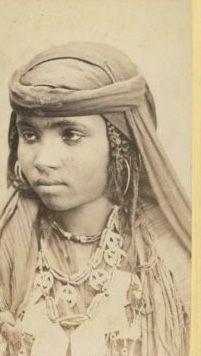 Algérie, femme vintage CDV albumen carte de visite CDV, tirage albuminé,