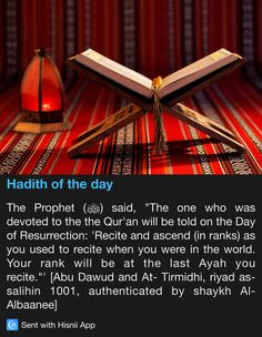 Hadith of the day Prophet Muhammad Quotes, Hadith Quotes, Muslim Quotes, Quran Quotes, Religious Quotes, Ali Quotes, Islam Hadith, Allah Islam, Islam Quran