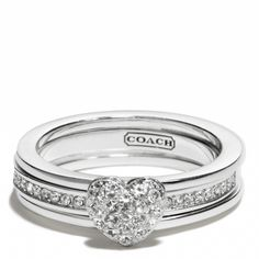 Pave heart convertible ring